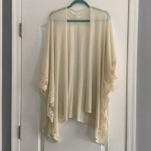 NWOT Lauren Conrad ivory kimono sweater